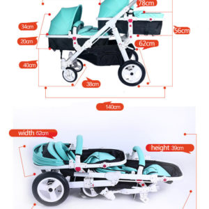 HK-free-delivery-Twins-baby-Stroller-twins-strollers-have-many-ways-combine-Prams-for-summer