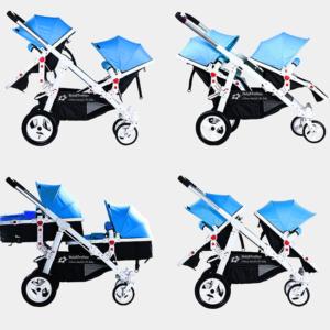 Geschwisterwagen / Zwillingswagen Blue